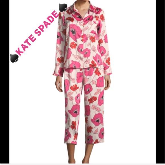 c2930a7cef00 🆕NWT♤️KATE SPADE♤️Floral Cropped Pajama Set.